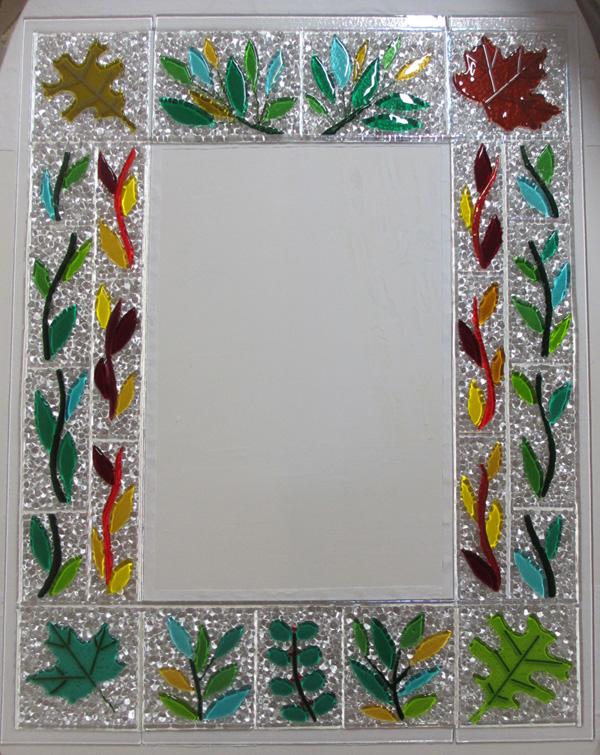 Leafy mirror frame