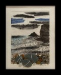 Beach combing vitrigraph print and fused glass